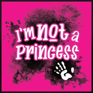 Not a Princess hot pink - Women's Premium T-Shirt