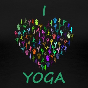 I love Yoga - Frauen Premium T-Shirt