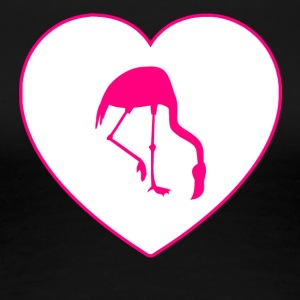 Flamingo Heart - Frauen Premium T-Shirt