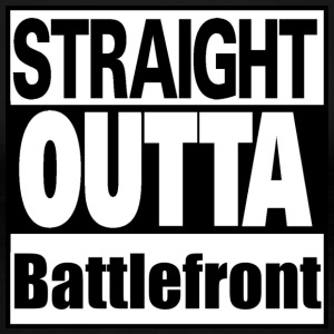 Straight outta Battle - Premium-T-shirt dam