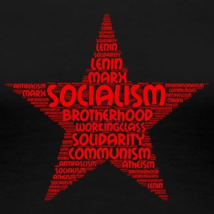 socialisme word cloud - Vrouwen Premium T-shirt