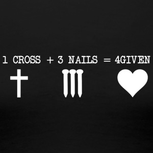 CROSS 1 + 3 + NAILS 4GIVEN - Premium-T-shirt dam