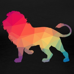 Lion Logo Polygon Bunt - Women's Premium T-Shirt