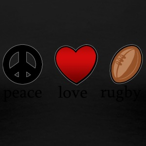 Peace Love Rugby - T-shirt Premium Femme