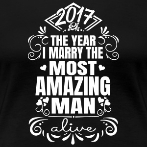 Wedding / Engagement 2017 Best Man - Premium-T-shirt dam