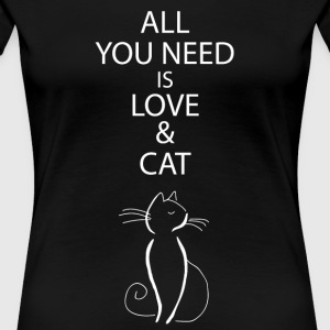 Cat owner cat lover gift women - Women's Premium T-Shirt