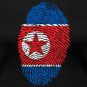 North Korea fingerprint - Women's Premium T-Shirt