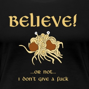 TRO i Flying Spaghetti Monster - Dame premium T-shirt