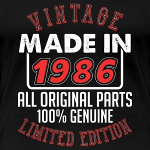 Vintage Made in 1986 - T-shirt Premium Femme