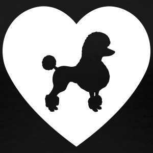 Poodle - Poodle in heart - Women's Premium T-Shirt