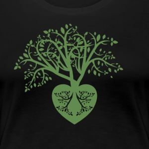 jl tree heart - Women's Premium T-Shirt