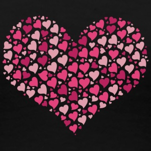 Big heart shape made of many small hearts - Women's Premium T-Shirt