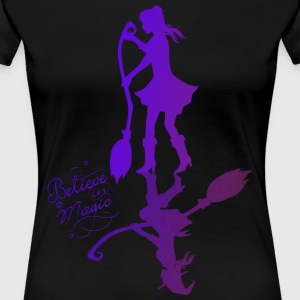 Believe in Magic Hexe - lila - Frauen Premium T-Shirt