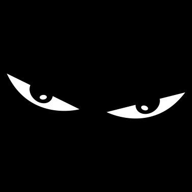 Comic Augen Böse