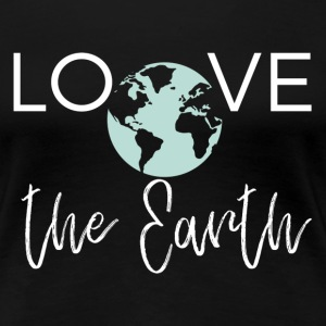 Love the Earth - lettres blanches