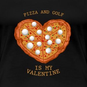Pizza Golf Valentines Day Gift Love Heart Sport
