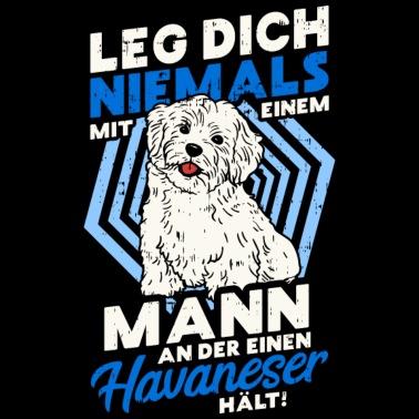 Havanese Hund Havaneser Hündin Herrchen Frauchen Frauen Premium Hoodie Weiß