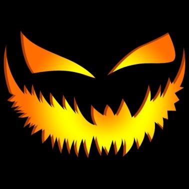 Pompoen Halloween.Happy Halloween Pompoen Vrouwen Premium T Shirt Zwart