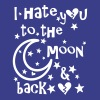I hate u to the moon and back - Women's Premium T-Shirt