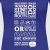 Funny Laundry tag mother knows best t-shirts for I love mothers day, birthday, anniversary celebration - Women's Premium T-Shirt