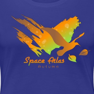 Space Atlas T-tröja Autumn Leaves - Premium-T-shirt dam