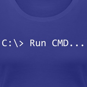Run CMD Prompt - Vrouwen Premium T-shirt