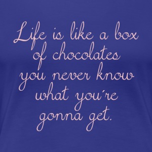 Life is a box of chocolate - rosé - Women's Premium T-Shirt