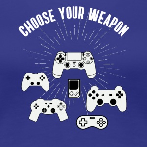 weapon konsole Play Station Gamer Nerd kontroller - Frauen Premium T-Shirt