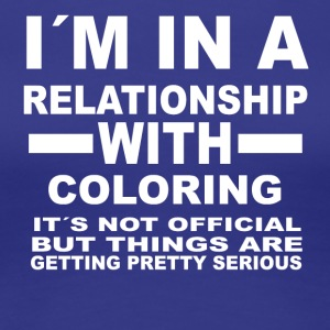 Relationship with COLORING - Women's Premium T-Shirt
