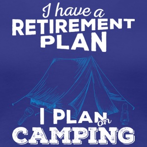 Retirement plan camping (light) - Frauen Premium T-Shirt