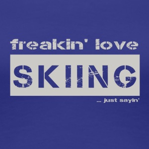 love SKIING - bright T-shirt - Women's Premium T-Shirt