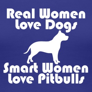 Smart women love Pitbulls - Frauen Premium T-Shirt