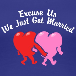 Just Married Excuse Us - Women's Premium T-Shirt