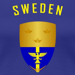 SUÈDE CROWNS SHIELD - T-shirt Premium Femme