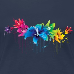 Blumen Multicolor - Frauen Premium T-Shirt