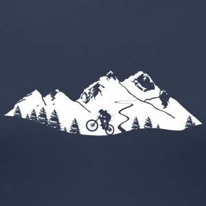 Mountainbike Trail - Frauen Premium T-Shirt