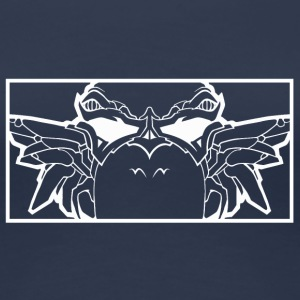 BAD_OWL_WHITE - Dame premium T-shirt
