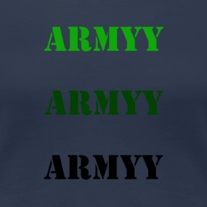 colored army slogan - Women's Premium T-Shirt