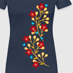 Flowers, floral tendril, twine, summer, spring, - Women's Premium T-Shirt