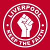 Liverpool Keep the Faith - Vrouwen Premium T-shirt