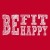 Be fit be happy - Women's Premium T-Shirt