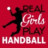 Real Girls play Handball - Frauen Premium T-Shirt