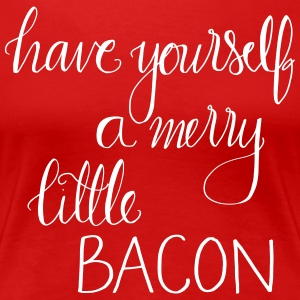 Merry Little Bacon - Premium-T-shirt dam