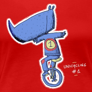 Rhino unicycle - Unicycling #1 - Vrouwen Premium T-shirt