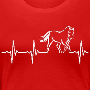 The pulse of a horse - Women's Premium T-Shirt