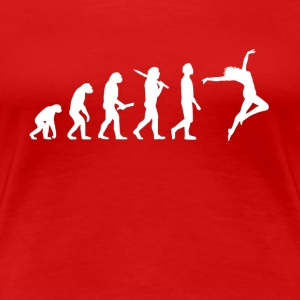 Dancing Dancer Evolution - Dame premium T-shirt