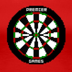 premier games pixelated dartboard - Women's Premium T-Shirt
