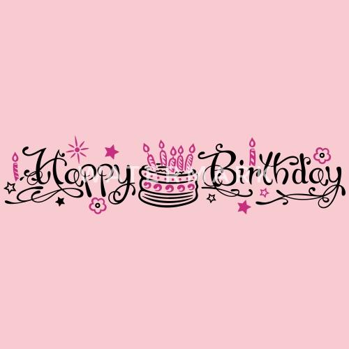 Happy Birthday Geburtstags Grüße Mit Torte Frauen Premium T Shirt