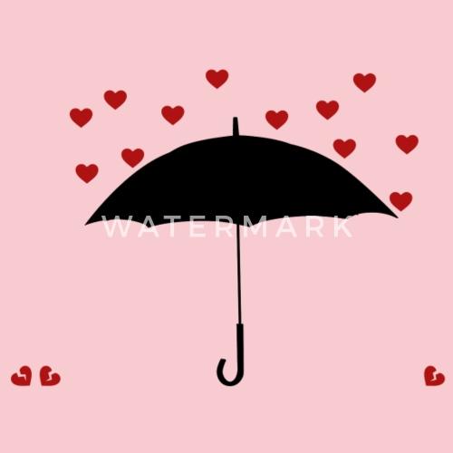 Anti Valentinstag Herz Regenschirm Geschenk Frauen Premium T Shirt