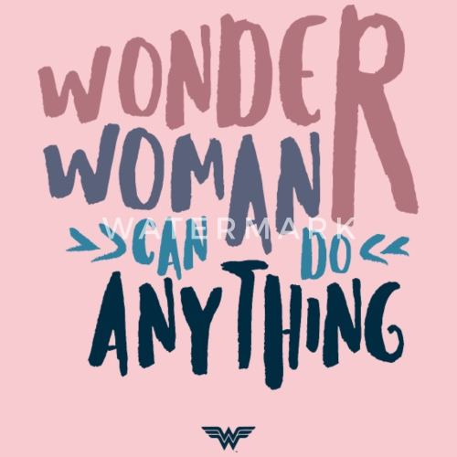 Dc Comics Wonder Woman Can Do Anything Quote Vrouwen Premium T Shirt